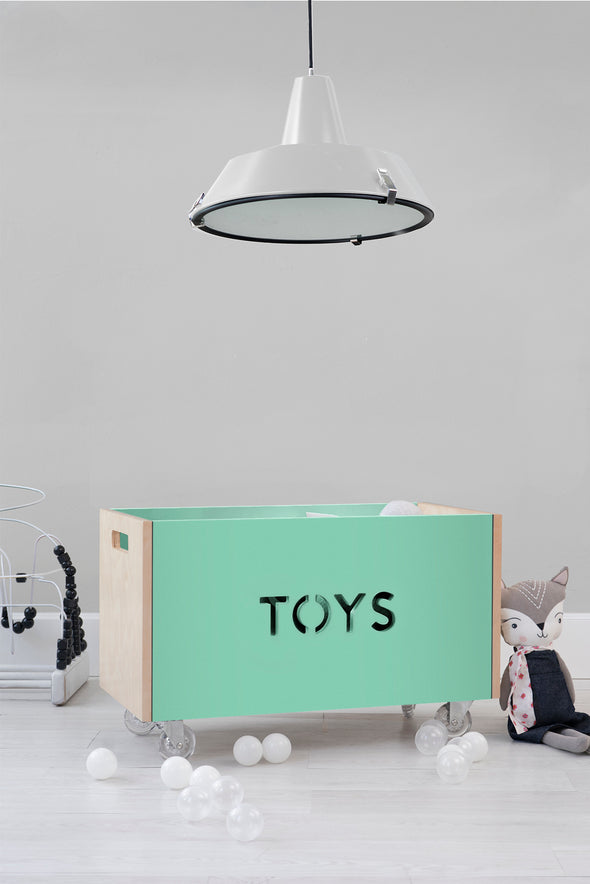 Modern Kids Furniture Toy Box Chest on Casters - nicoandyeye.com