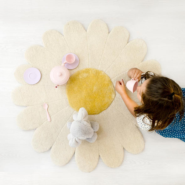 Modern Kids Furniture Daisy Flower Kids Rug - nicoandyeye.com