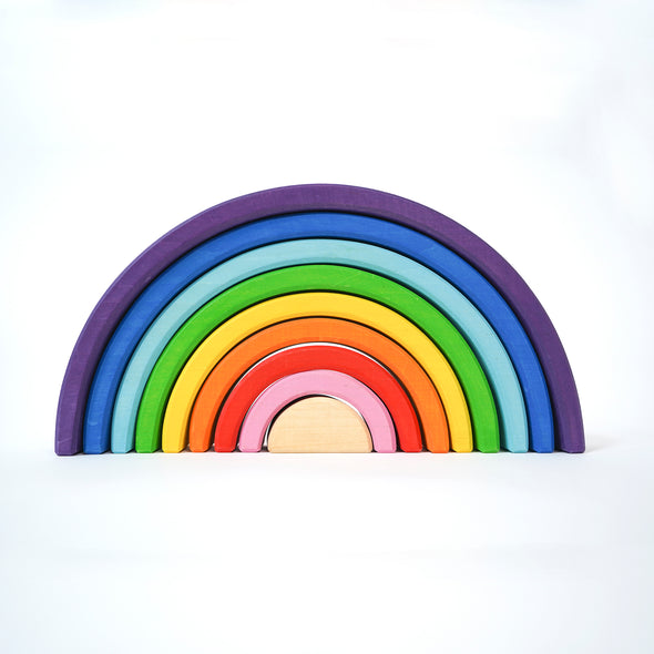 Modern Kids Furniture The Big Wooden Rainbow Stacker - nicoandyeye.com