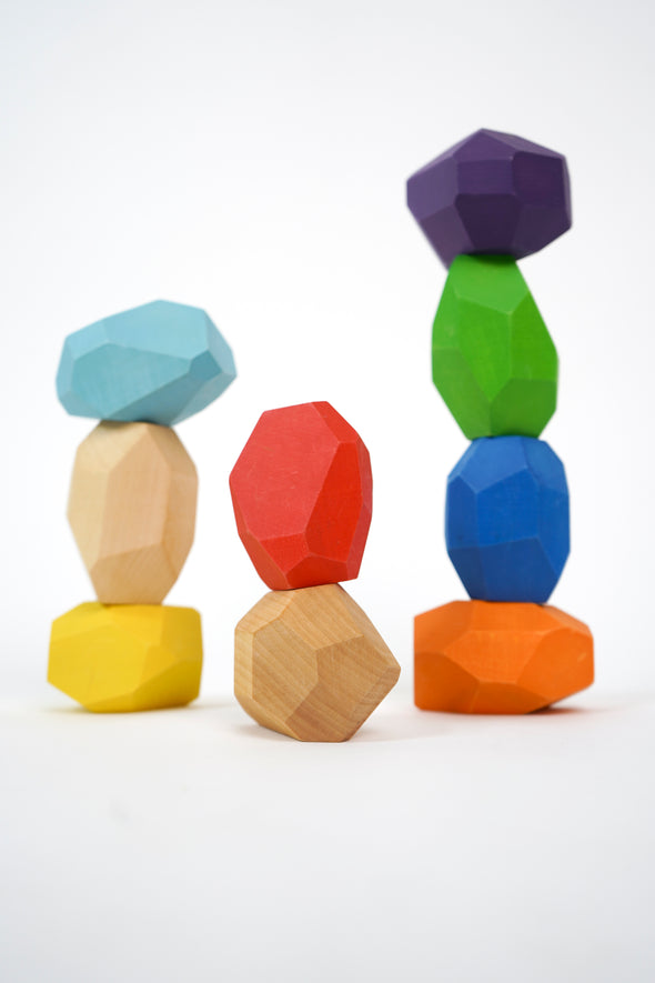 Modern Kids Furniture Big Wooden Balancing Stones - nicoandyeye.com