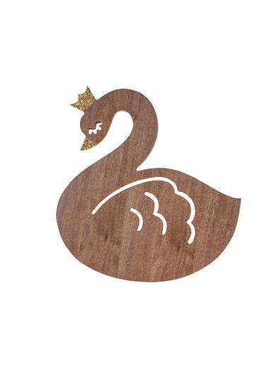 Nico & Yeye Walnut Swan glitzy wall decoration_Kids playroom_bedroom ideas