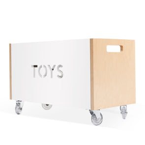 Nico and Yeye Toy Box organizer Chest birch and white accent