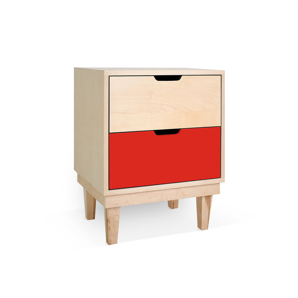 Modern Kids Furniture Kabano Modern Kids 2-Drawer Nightstand - nicoandyeye.com