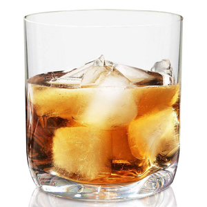 Vivocci Unbreakable Thumb Indent Whiskey Glasses 12.5 oz
