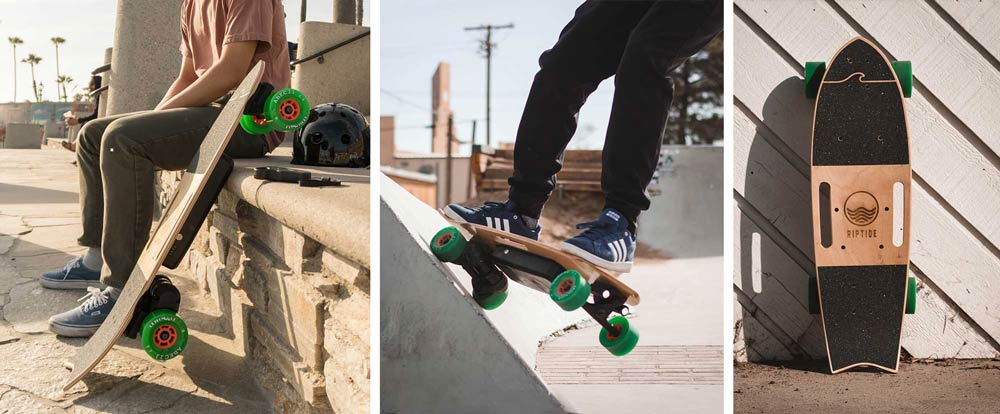 Electric Skateboard with Kick Tail