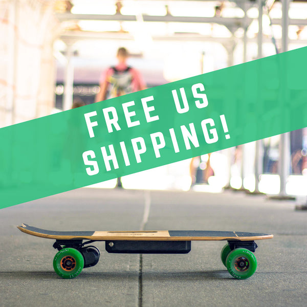 free shipping electric skateboard
