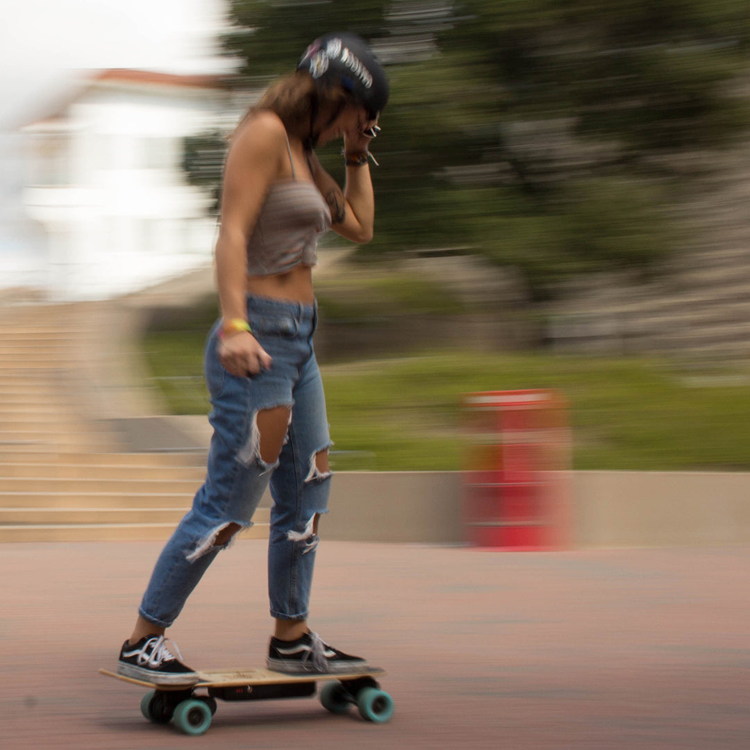 electric skateboard riding