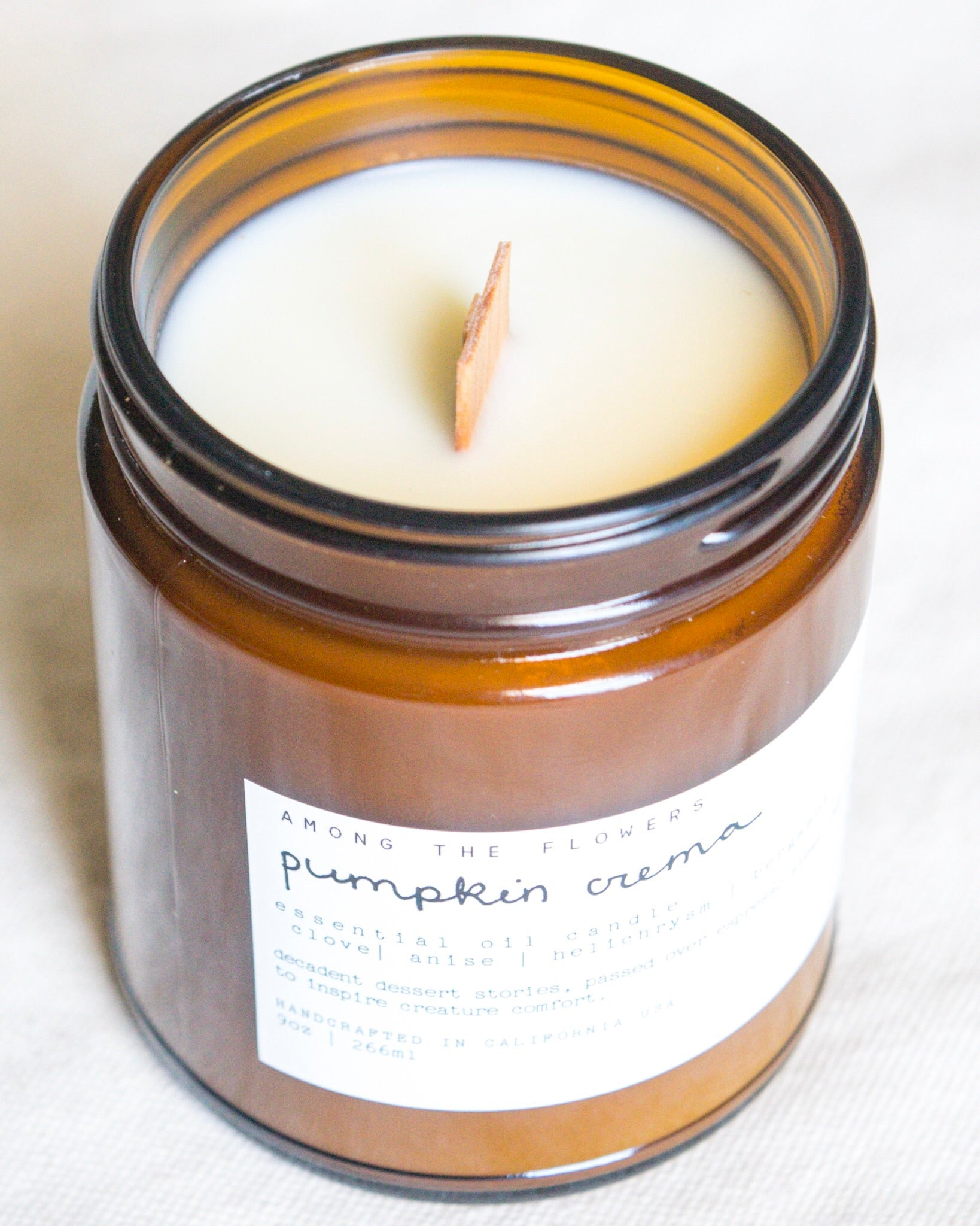 Essential Oil + Soy Wax Candle | Pumpkin Crema
