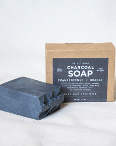 Ye' Ol' Charcoal Goat Soap - Frankincense + Orange