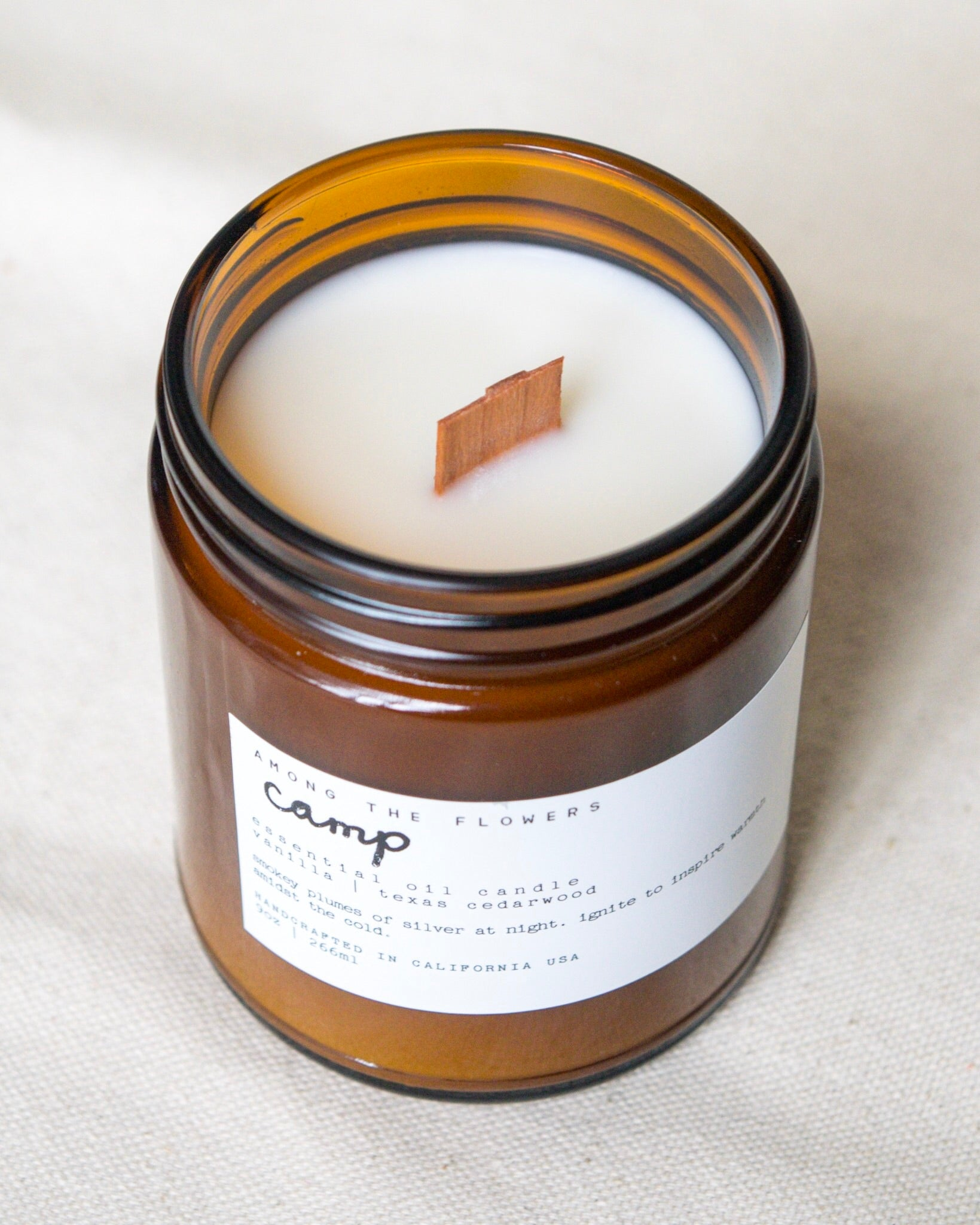 Essential Oil + Soy Wax Candle | Camp