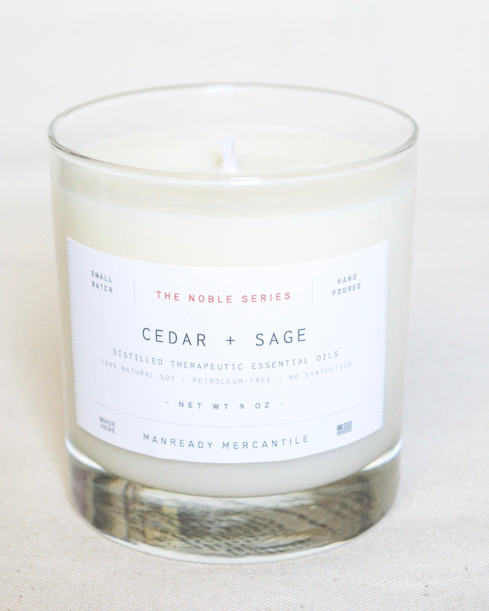 Noble Series Soy Candle | Cedar + Sage