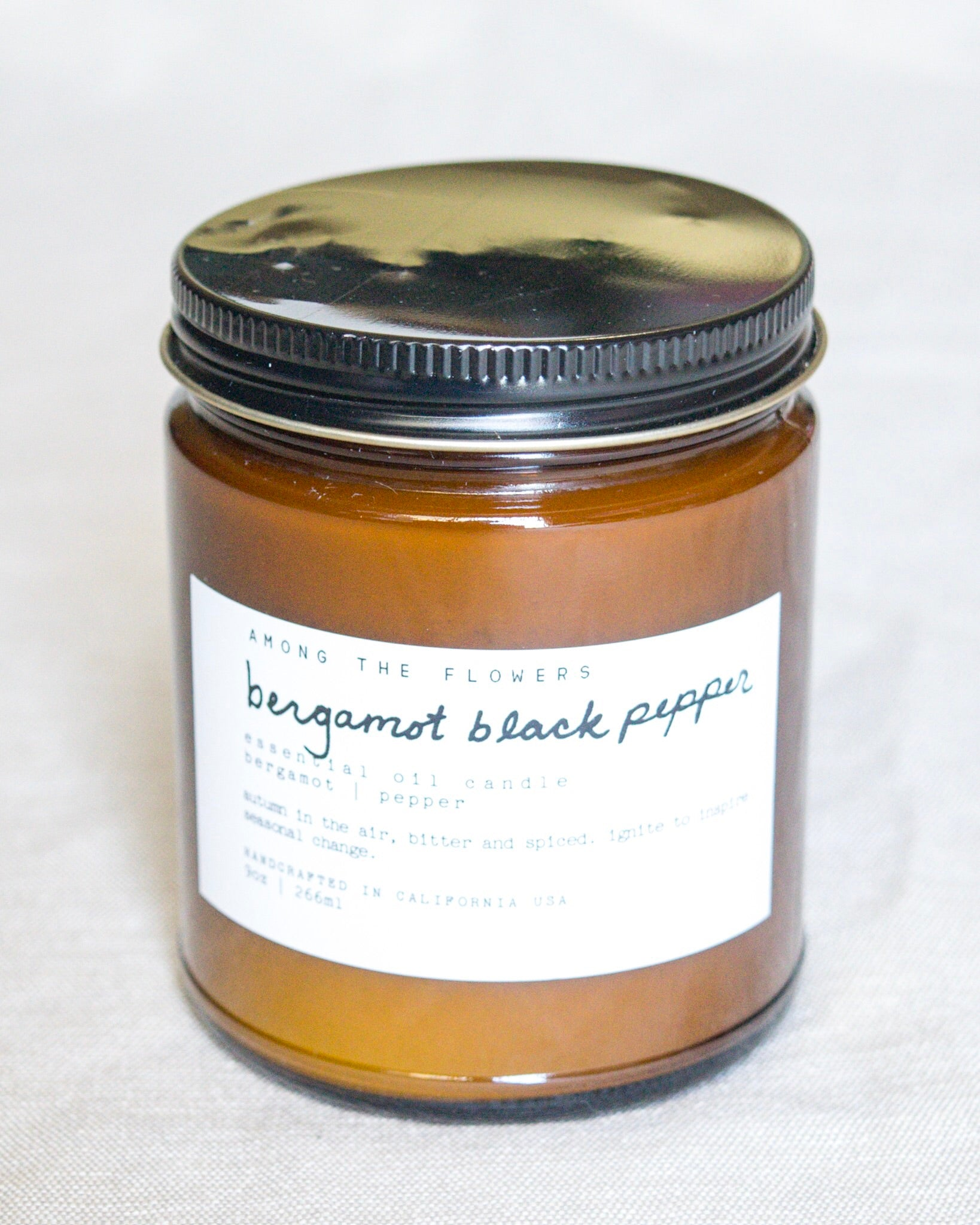 Essential Oil + Soy Wax Candle | Bergamot Black Pepper