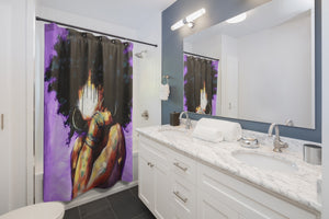 Naturally II  PURPLE Shower Curtains
