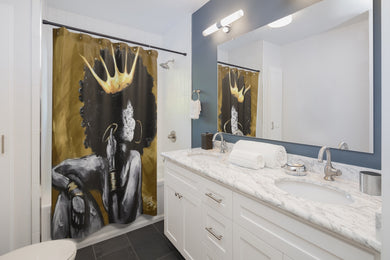 Naturally Queen VI GOLD Shower Curtains
