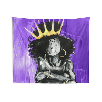 Naturally Queen IX PURPLE Indoor Wall Tapestries