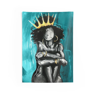 Naturally Queen IX TEAL Indoor Wall Tapestries