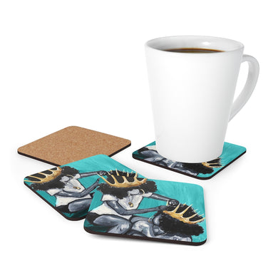 Naturally Queens I TEAL Cork Back Coaster