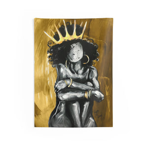 Naturally Queen X GOLD Indoor Wall Tapestries