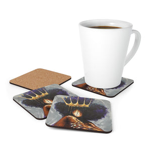 Naturally Queen XVIII Cork Back Coaster