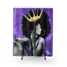 Naturally Queen VI PURPLE Shower Curtains