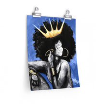 Naturally Queen VI BLUE Premium Matte vertical posters