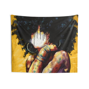 Naturally II GOLD Indoor Wall Tapestries