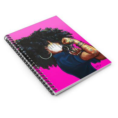 Naturally the Riveter PINK Spiral Notebook - Ruled Line