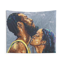 Naturally Black Love V Indoor Wall Tapestries