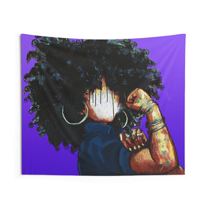 Naturally the Riveter PURPLE Indoor Wall Tapestries