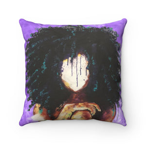 Naturally I PURPLE Spun Polyester Square Pillow