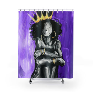 Naturally Queen IX PURPLE Shower Curtains