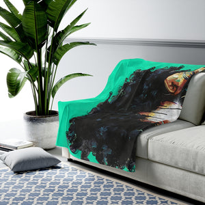 Naturally The Riverter TEAL Velveteen Plush Blanket