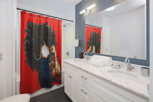 Naturally the Riveter RED Shower Curtains
