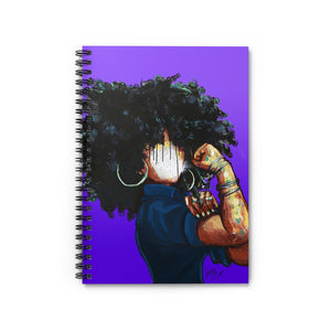 Naturally the Riveter PURPLE Spiral Notebook - Ruled Line