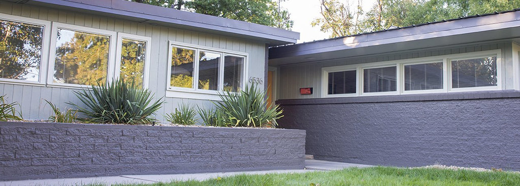 Mid Century Modern Home Exterior with Modern Mailbox