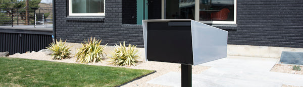 Post mount modern mailbox | curbside modern mailbox | modern mailbox with post