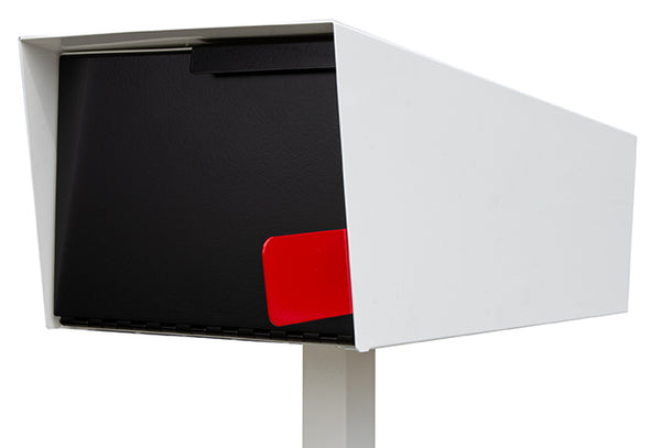 Modern Mailbox | Modern Mailbox with Post White/Black