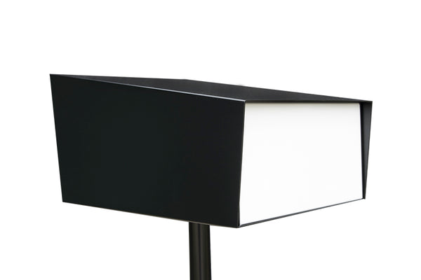 Modern Mailbox | Modern Mailbox with Post Black/White Back Profile