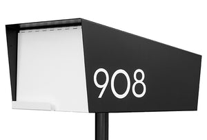 Modern Mailbox | White Modern House Numbers | White Modern Address Numbers