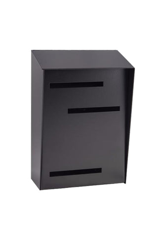 Mid Century Modern Mailbox Black | Vertical | Handmade in the USA | Small