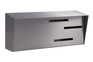 Wall Mounted Mid Century Modern Mailbox | Horizontal Stainless Steel