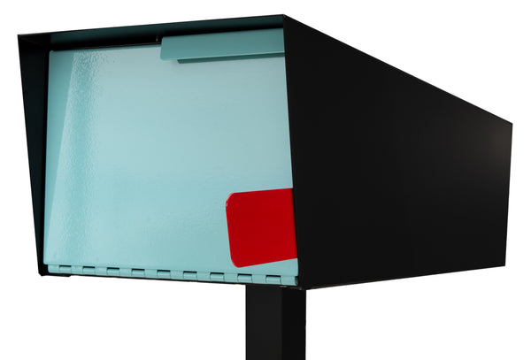 Modern Mailbox | Modern Mailbox with Post Black/Robin Egg