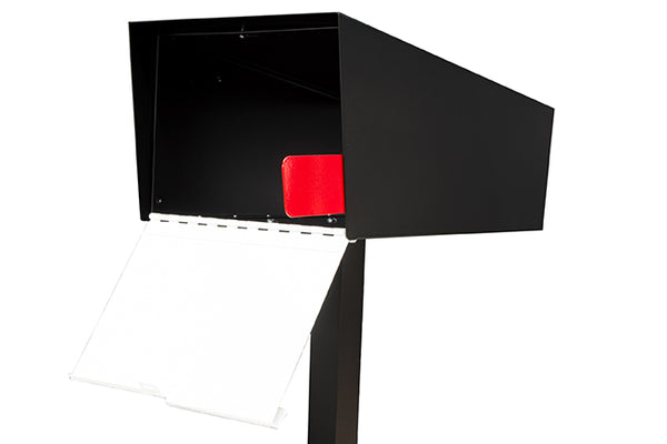 Modern Mailbox | Modern Mailbox with Post Black/White