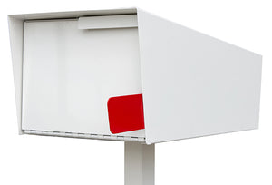 Modern Mailbox | Modern Mailbox with Post White