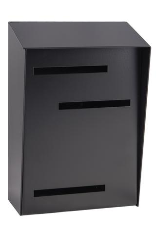 Wall Mounted Mid Century Modern Mailbox | Vertical Black