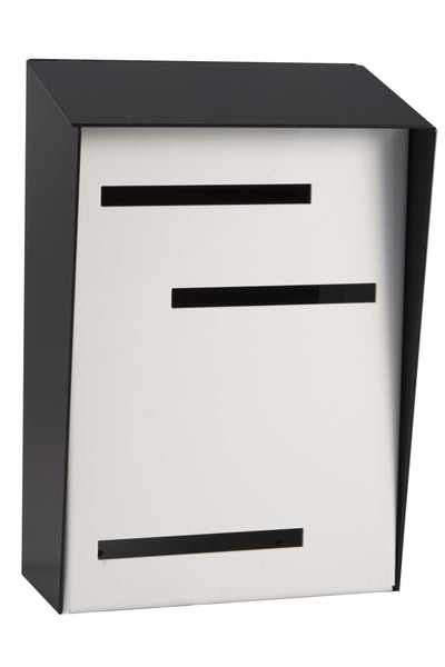 Mid Century Modern Mailbox Black/White | Vertical | Handmade in the USA | Large