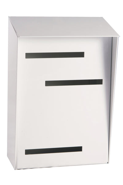 Mid Century Modern Mailbox White Mid Century Modern Mailbox | Vertical | Handmade in the USA | Large