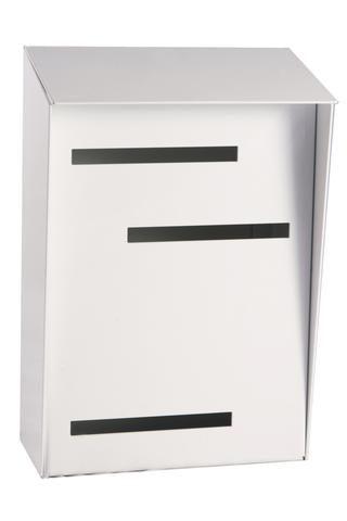 Wall Mounted Mid Century Modern Mailbox | Vertical White
