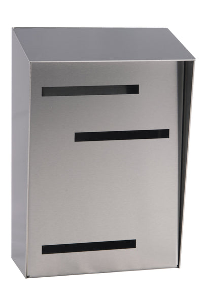 Modern Mailbox | Mid Century Modern Mailbox | Stainless Steel Modern Wall Mounted Mailbox Large