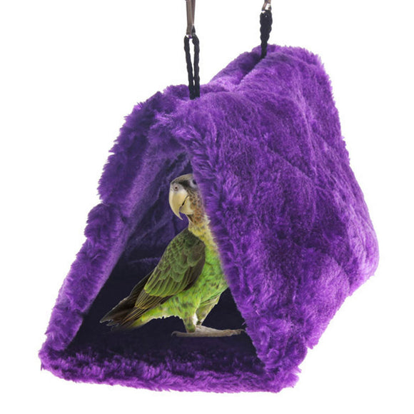 Pet Parrot Bird Toy Plush Hammock Cage Happy Hut Tent Bed Warm Hanging Cave for Parrots Snuggle Tent Bed